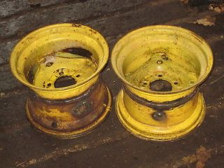 JOHN DEERE WIDENED REAR WHEELS / RIMS 12 X 9 for 26x12x12 TIRES
