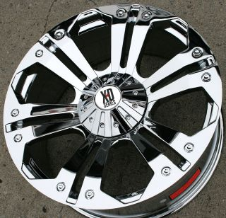 KMC XD SERIES MONSTER 778 24 CHROME RIMS WHEELS FORD E350 VAN 00 up