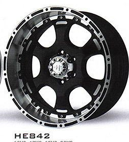 16 inch Black Wheel rims HELO 842 6 LUG Chevy Gmc 1500 Trucks fast