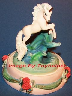 franklin mint unicorn of beauty sculpture horse statue expedited