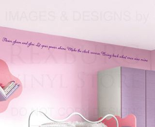 Wall Decal Sticker Quote Vinyl Art Lettering Letter Rapunzel Tangled