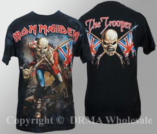 Authentic IRON MAIDEN Eddie The Trooper ALLOVER T Shirt S M L XL NEW