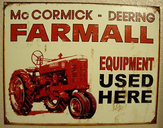 MCCORMICK DEERING FARMALL Farm Tractor Equipment Vintage Antique Look