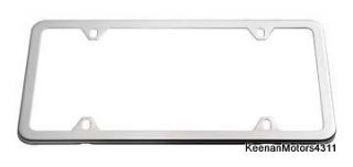 Genuine OEM Mercedes Benz Polished Stainless Steel Slimline License