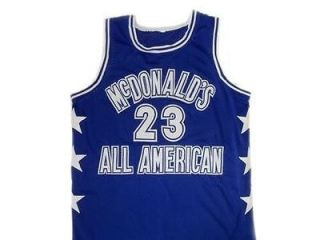 MICHAEL JORDAN McDONALDS ALL AMERICAN JERSEY BLUE   ANY SIZE