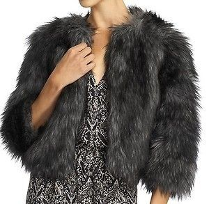 MICHAEL KORS COYOTE FAUX FUR FORMAL JACKET COAT  $175