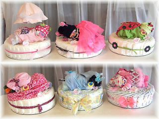 Baby Shower Diaper Cake & Newborn Diaper Baby Girl All In One