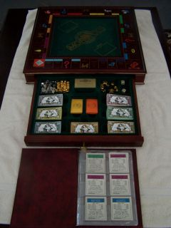 franklin mint wooden collectors edition monopoly set