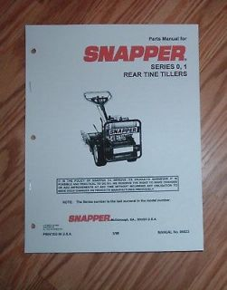 snapper rear tine tiller series 0 1 parts manual time