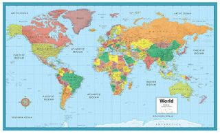 rand mcnally world m series large wall map mural poster