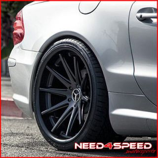 20 MERCEDES BENZ W220 S350 S430 S500 ROHANA RC10 CONCAVE BLACK WHEELS