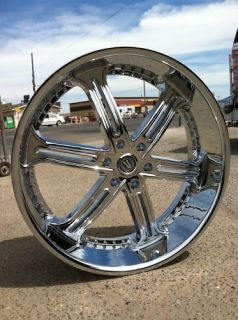 26 chrome wheels tires 6x135 ford navigator f150 new returns