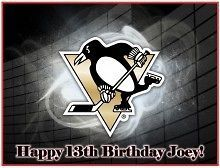 Pittsburgh Penguins #1 Edible CAKE Icing Image topper frosting