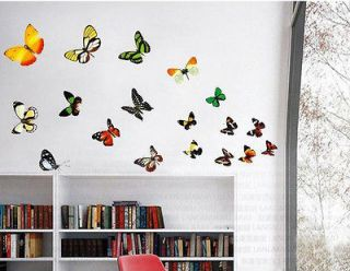 Flower Butterflies Wall Decor Art Vinyl Removable Mural Decal Sticker