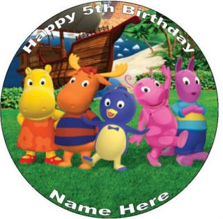 Backyardigans 7.5 Round Edible Icing Cake Topper
