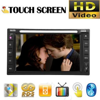 Car DVD Player Stereo Double 2 Din Radio IPOD RDS /4 USB/SD