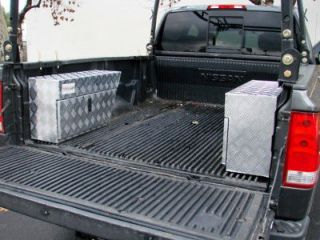 TRUCK PICKUP TRAILER RV TOOL BOX PORK CHOP WHEEL WELL BED STORAGE L+R