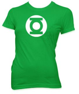 THE BIG BANG THEORY GREEN LANTERN FUNNY LADIES T SHIRT JF217