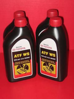 toyota ws atf automatic transmission fluid 4 quarts time left