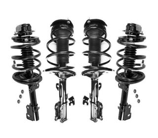 Front & Rear Strut & Coil Spring Assembly Quick 4pc Kit Toyota Camry