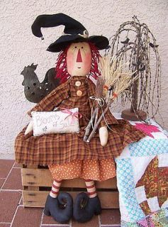 primitive raggedy ann pattern hilda the broom maker 34 from
