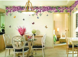Feifei flower sticker wall Decal Removable Art Vinyl Decor Home Kid