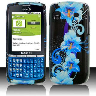 Newly listed Blue Flower Hard Case Cover For Samsung Replenish M580