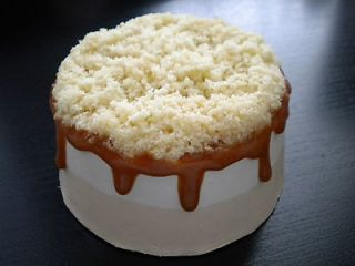 FAKE FOOD LIFESIZE MINI VANILLA/BANANA CARAMEL CAKE with CRUMBLE
