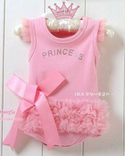 New Girls Baby Short Top Set Suit Bodysuit Costume Clothing Pricess