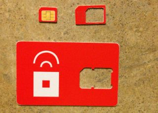 Red Pocket Mobile MICRO sim card FOR THE iPhone 4 4S iPad3 gsm prepaid