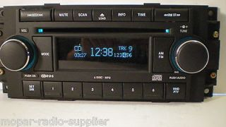 09 DODGE RAM 2500&3500 TRUCK 6 DISC CD/ PLAYER/CHANGER RADIO STEREO