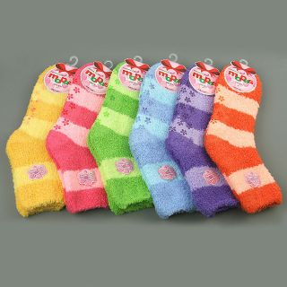 Pairs of Mopas Womens Cozy & Soft Non Skid Slipper Socks Size 9 11