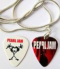 pearl jam guitar pick necklace plus free matching pick buy