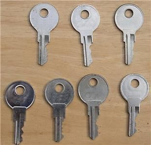 KEYS FOR T HANDLES, RVS, TRUCK CAP, TOPPER, TOOL BOXES