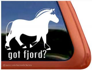 got fjord norwegian fjord horse trailer decal sticker one day