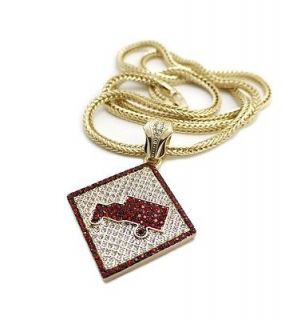 Hip Hop Iced Out LIL WAYNE TRUKFIT Pendant w/ 6mm 36 Ball Chain