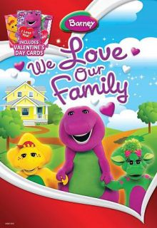 We Love Our Family DVD, 2010, With 3 Valentines Day Cards
