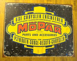 Vintage Style Mopar METAL SIGN dodge desoto chrysler plymouth jeep