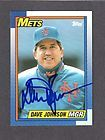 DAVE DAVEY JOHNSON autograph 1988 TOPPS signed card METS 88
