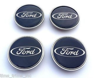 FORD WHEEL CENTRE CAPS BLUE FOCUS MONDEO FIESTA S MAX C BADGES 65mm