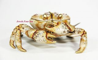JAY STRONGWATER GROTTO SHELDON LARGE CRAB TRINKET BOX SWAROVSKI