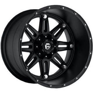 20x14 black wheel fuel hostage 8x6 5