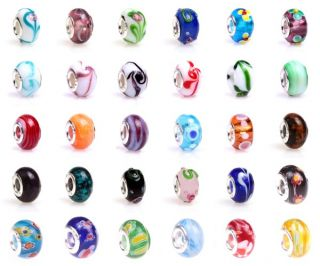 5pcs Lampwork Murano Glass European Bracelet Beads Charms Jewelry