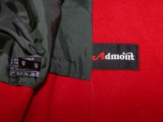 Admont Red Wool Gorsuch Short Dress Jacket Coat 46 12 M
