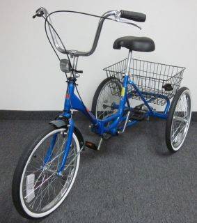 Workmans Trifecta Adult Folding Tricycle Trike 3 Wheel Bicycle Bike 20
