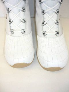 Womens Ahnu Tahoe Waterproof Event Vibram Winter Snow Boots White Sz