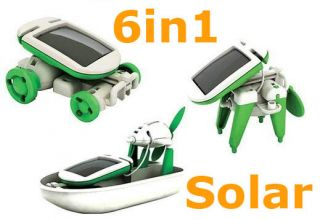 in 1 Solar Car Dog Airboat Airplane Robot DIY Toy Kit