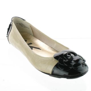 AK Anne Klein Blondy Ballet Flat Natural Black Size 7 New