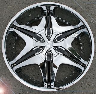 AKUZA BIG PAPI 712 22 CHROME RIMS WHEELS GRAND MARQUIS MILAN