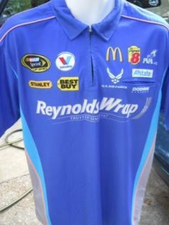 Elliott Sadler REYNOLDS WRAP Petty Motorsports race day pit crew shirt